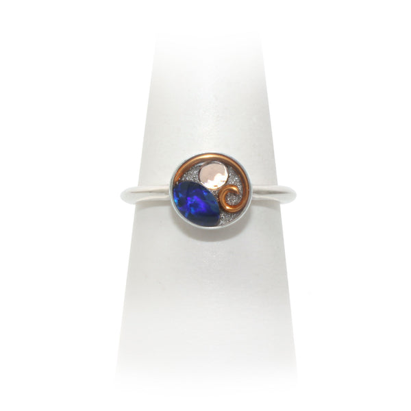 Size 8 - Copper Opal Ring