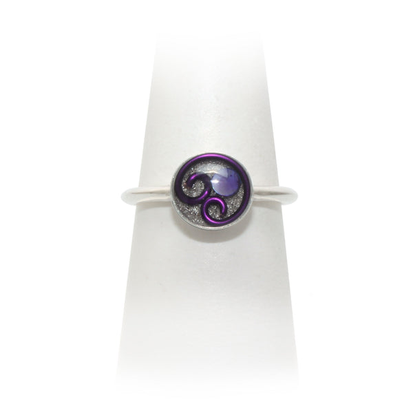 Size 8 - Purple Abalone Ring