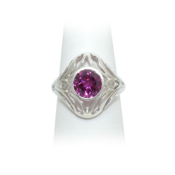Size 7 - Raspberry Sapphire Ring