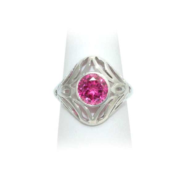 Size 8 - Pink Sapphire Ring