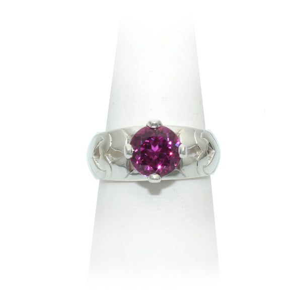 Size 8 - Raspberry Sapphire Ring