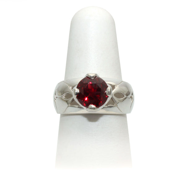 Size 8 - Red Sapphire Ring