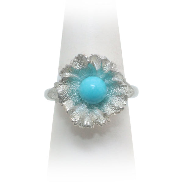 Size 10 - Sleeping Beauty Turquoise Wildflower Ring