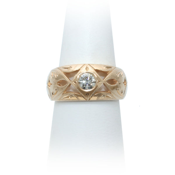 Size 7.5 - Yellow Gold Diamond Ring