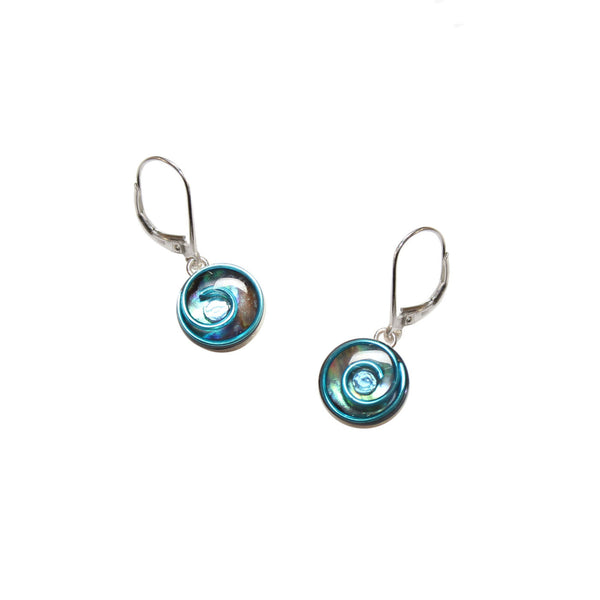 Petite Bluebell Abalone Earrings