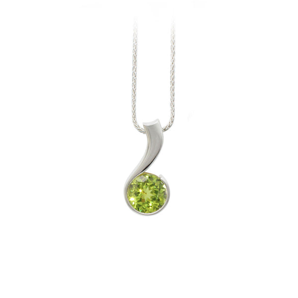 Lime Green Swirl Pendant