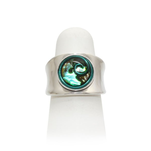 Size 4.75 - Green Abalone Ring