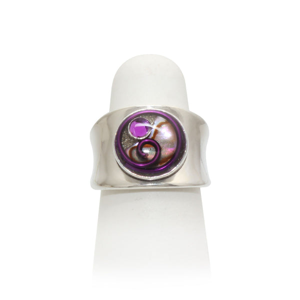 Size 4.75 - Purple Abalone Ring