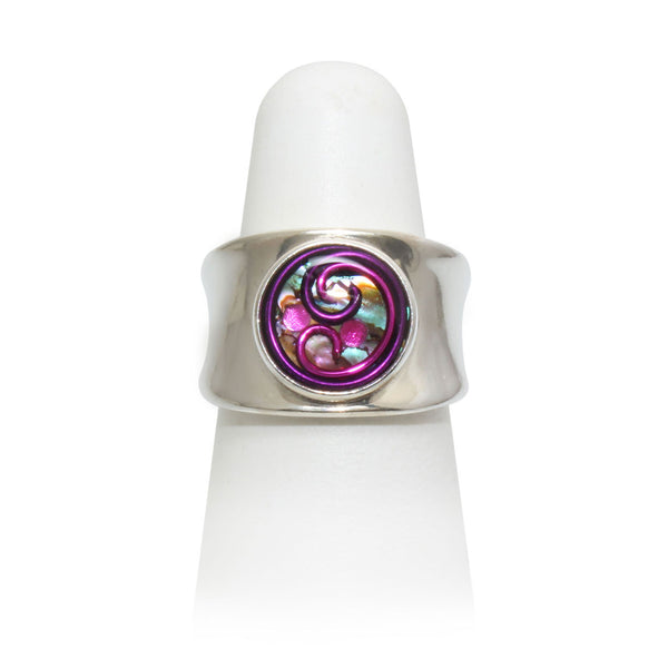 Size 5.75 - Pink & Purple Abalone Ring