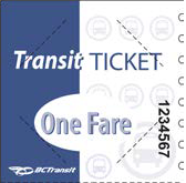 Hope Transit Single Fare Ticket Sheets