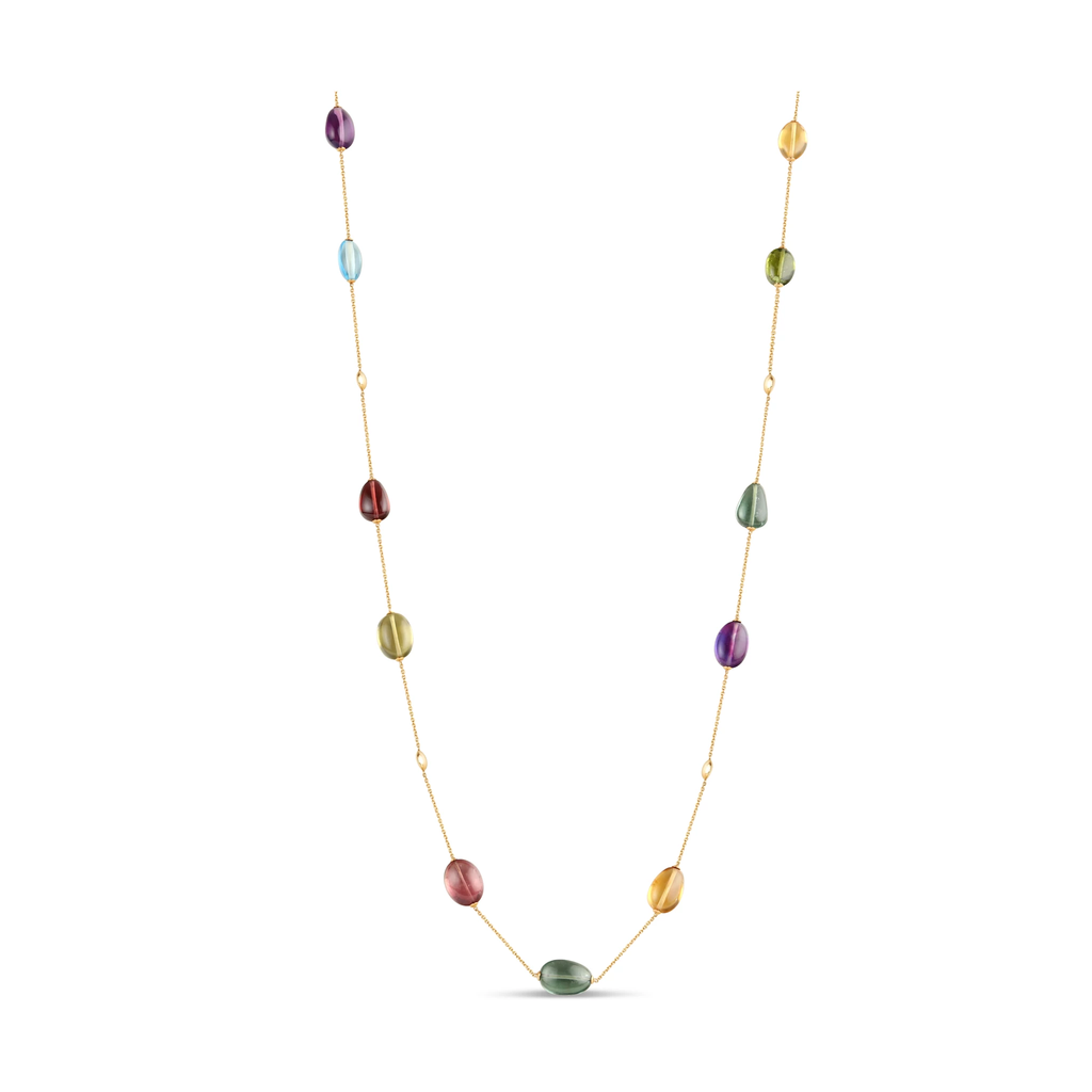 Gemstone Baroque 18k Yellow Gold Necklace