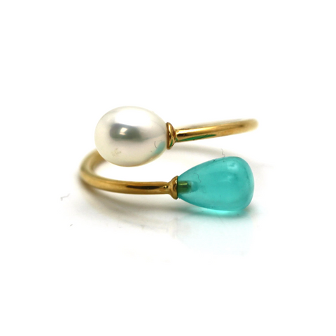 Gemstone Fashion Ring in 18k Yellow Gold