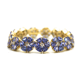 Tanzanite and Diamond Bracelet in 18kt Yellow Gold