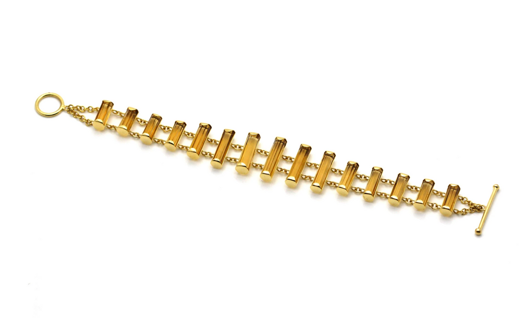 Citrine Xylophone Bracelet in 18kt Yellow Gold