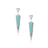 Amazonite & Diamond Earring in 18k White Gold