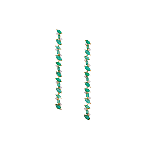 Gemstone Marquise Desire Earrings in 18K Gold