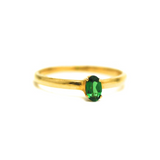 Gemstone Oval Ring in 18K Yellow Gold