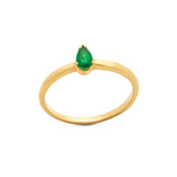 Gemstone Pear Shaped Ring in 18k Yellow Gold