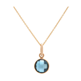 London Blue Topaz Necklace in 18k Yellow Gold