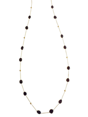 18k Yellow Gold Necklace With Garnet