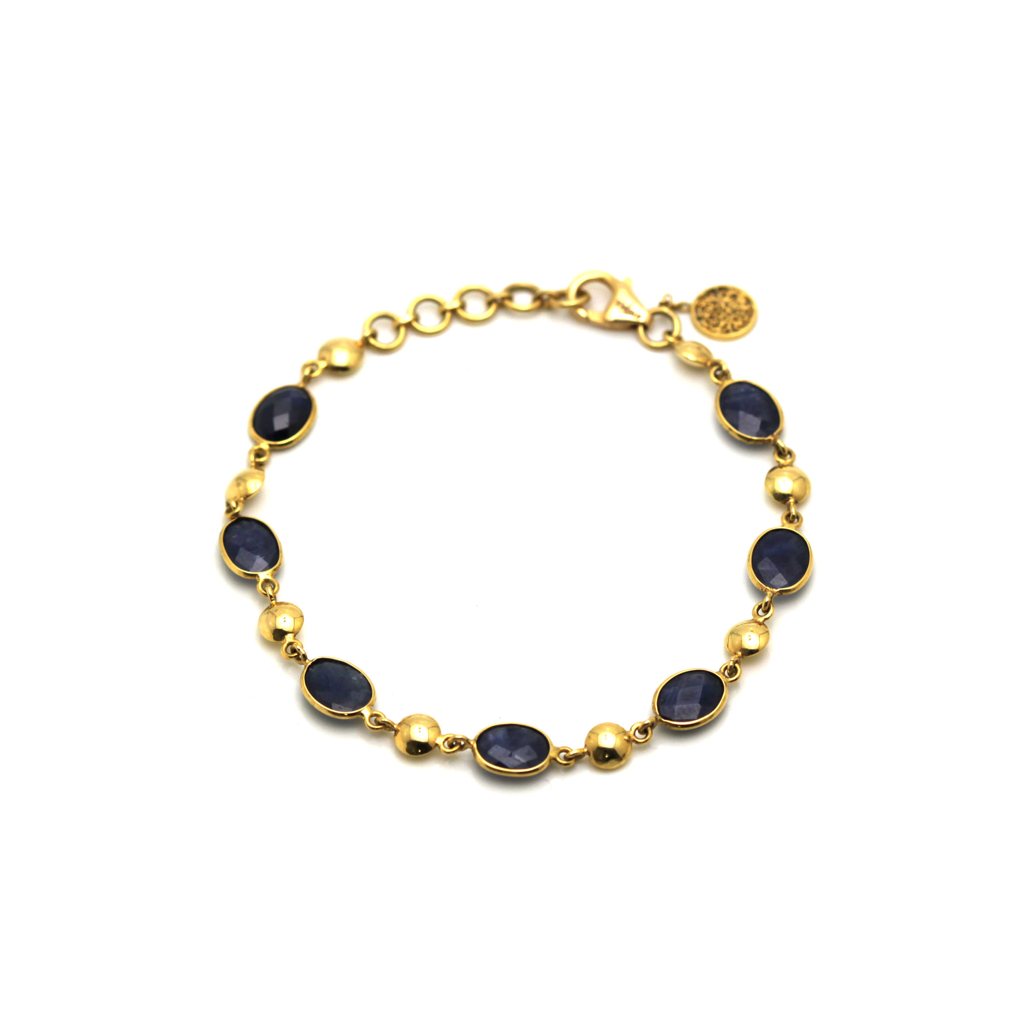 sapphire gold and with tranquility jewelry accents set bracelet lynn products filled mickey crystal stretch quartz