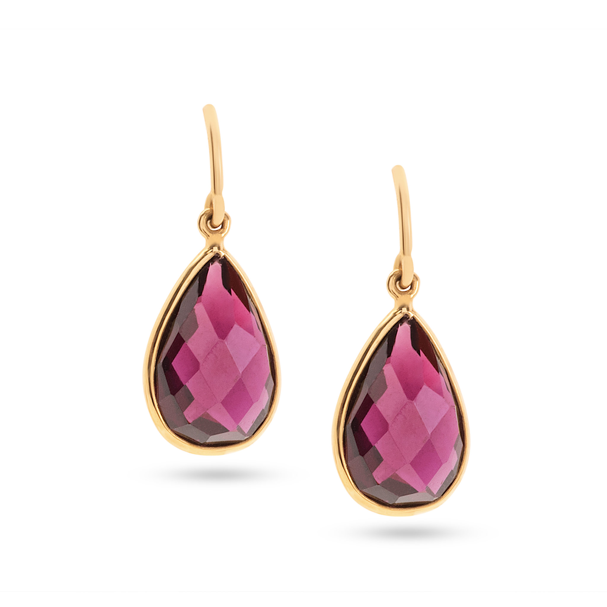 rhodolite earrings l garnet rose gold dangle vian juwelo silver le diamond