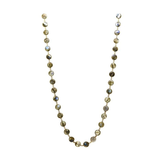 Rainbow Moontone Long Station Necklace in 18K Yellow Gold