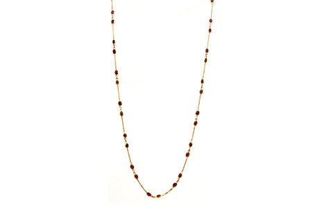 18Kt Yellow Gold Necklace With Ruby