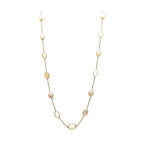 Ethopian Opal Necklace in 18k Yellow Gold