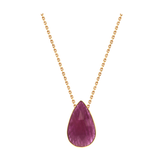 Ruby Pear Shaped Pendant in 18k Yellow Gold