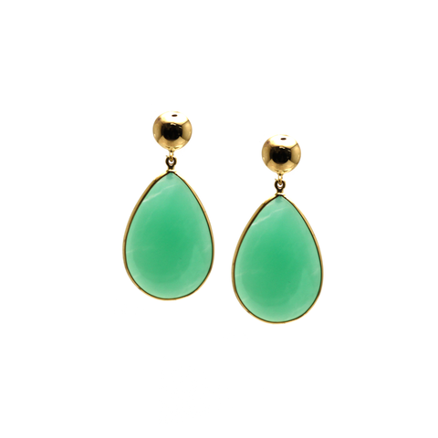 18Kt Yellow Gold Earring With Chrysopharse