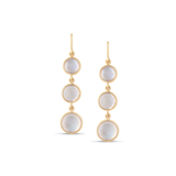 Gemstone Smooth Round in 18K Yellow Gold Earring