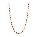 Ruby Oval Necklace In 18K Yellow Gold