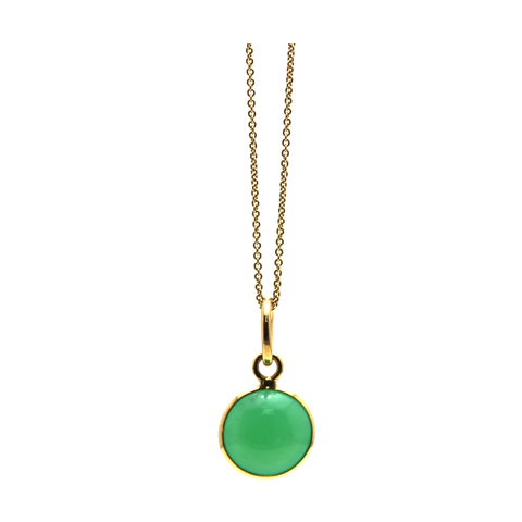 Crysophrase Simple Round Pendant In 18K Yellow Gold