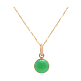 Gemstone Simple Round Pendant In 18K Yellow Gold