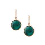 Gemstone Simple Round Dangle Earring In 18K Yellow Gold