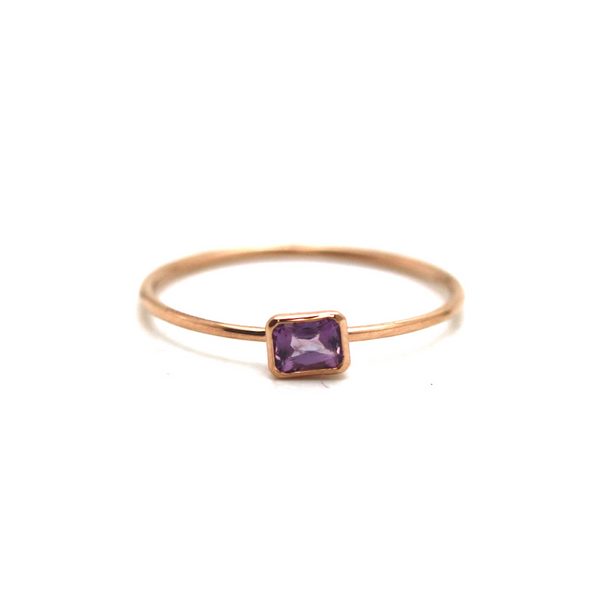 Pink Sapphire Ring in 18k Rose Gold