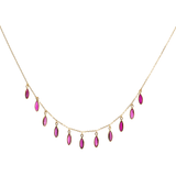 Gemstone Marquise Necklace in 18k Yellow Gold