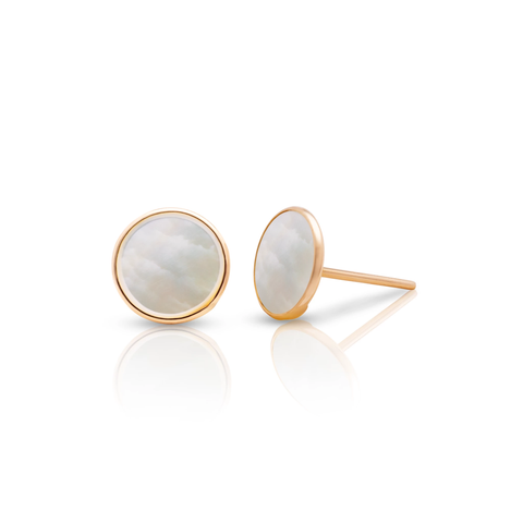 Gemstone Stud Earrings in 18k Yellow Gold
