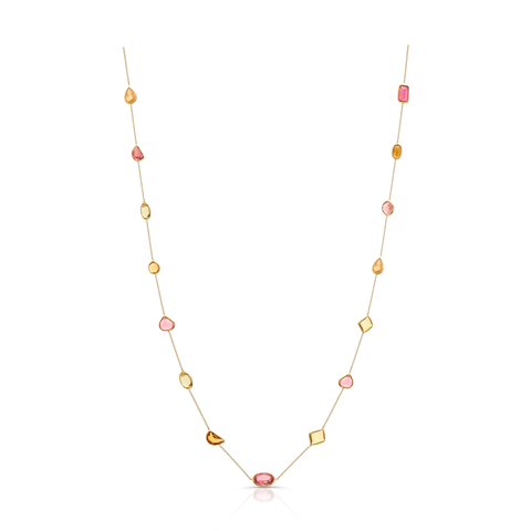 Gemstone Multicut Mixshape Necklace in 18k Yellow Gold