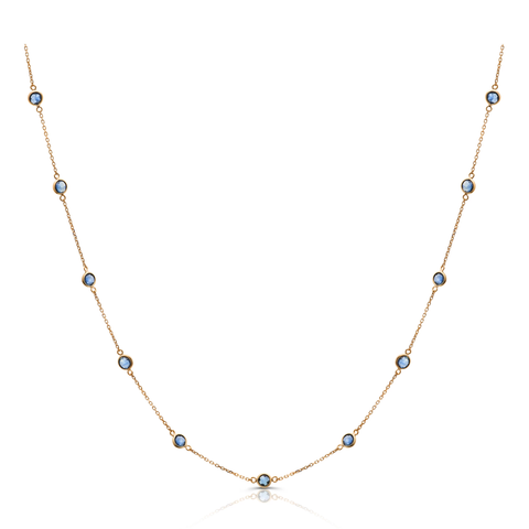 Ruby Rd. Necklace in 18k Yellow Gold