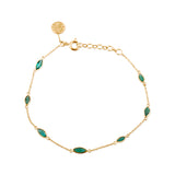 Emerald Marquise Bracelet in 18k Yellow Gold
