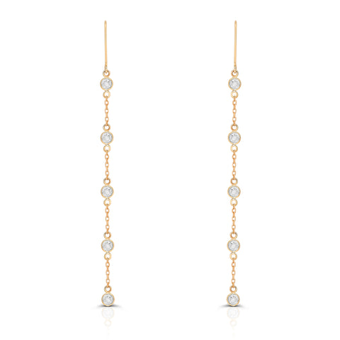Diamond by the yard Earring in 18k Yellow Gold