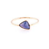 Blue Sapphire Unshaped Ring in 18k Yellow Gold