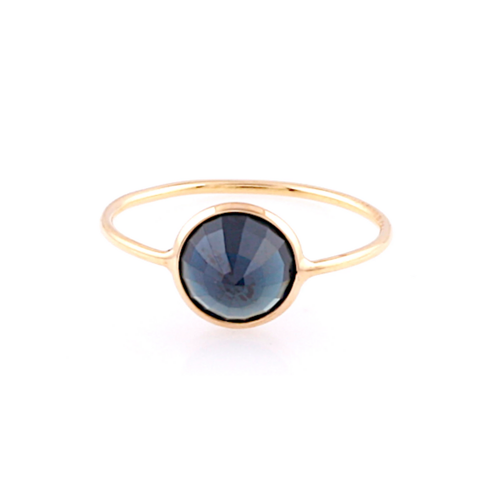 Single Gemstone Ring in 18k Yellow Gold