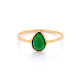 Tsavorite P/S Ring in 18k Yellow Gold