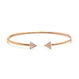 Diamond Bangle With Triangle In 18k RG