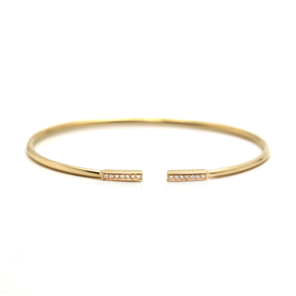 Diamond Bangle With In 18K YG