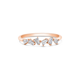 Diamond Baguette Ring in 18k Gold