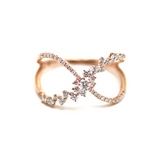 Criss Cross Diamond Ring in 18k RG